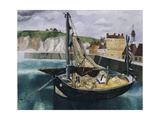 A Fishing Boat in Dieppe Harbour Giclee Print by Christopher Wood