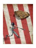 American Baseball Giclee Print