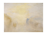 Sunrise, with a Boat Between Headlands Giclee Print by Joseph Mallord William Turner