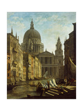 Capriccio: St Paul's and a Venetian Canal Giclee Print by William Marlow