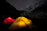 Tents Glow in the Tsum Valley Which Is in the Manaslu Region of Nepal Photographic Print by Alex Treadway