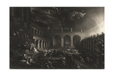 Plate from 'Illustrations to the Bible': Belshazzar's Feast Giclee Print by John Martin