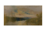 The Lake, Petworth, Sunrise Giclee Print by Joseph Mallord William Turner