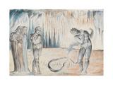 Illustrations to Dante's 'Divine Comedy', the Serpent Attacking Buoso Donati Giclee Print by William Blake