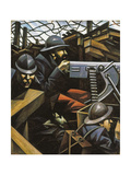 La Mitrailleuse Giclee Print by Christopher Richard Wynne Nevinson