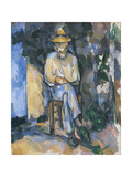 The Gardener Vallier Giclee Print by Paul Cézanne