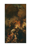 Sketch for 'St Paul Shaking Off the Viper' Giclee Print by Benjamin West