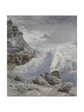 Glacier of Rosenlaui Giclee Print by John Brett