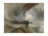 Snow Storm - Steam-Boat Off a Harbour's Mouth Stampa giclée di Joseph Mallord William Turner