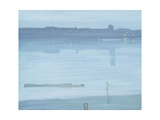 Nocturne: Blue and Silver - Chelsea Giclee Print by Joseph Mallord William Turner