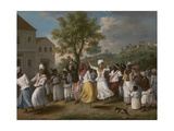 Dancing Scene in the West Indies Giclee Print by David Cox