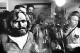 Serial Killer Charles Manson in, 1969 During His Transfer in Los Angeles Photo