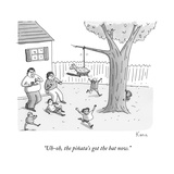 """Uh-oh, the piñata's got the bat now."" - New Yorker Cartoon Premium Giclee Print by Zachary Kanin"