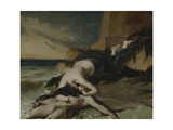 Hero, Having Thrown Herself from the Tower at the Sight of Leander Drowned, Dies on His Body Giclee Print by William Etty