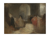 Dinner in a Great Room with Figures in Costume Giclee Print by Joseph Mallord William Turner