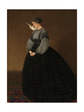 Lady with a Dove: Madame Loeser Giclee Print by John Brett