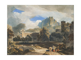 Suburbs of an Ancient City Giclee Print by John Varley