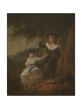 Two Children Giclee Print by Julius Caesar Ibbetson