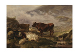 Among the Cumberland Mountains - Mist Clearing Off Giclee Print by Thomas Sidney Cooper