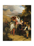 The Escape of Francesco Novello Di Carrara, with His Wife, from the Duke of Milan Giclee Print by Sir Charles Lock Eastlake