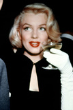 Marilyn Monroe with a Glass of Champagne, 1955 Photographic Print