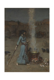 Den magiske cirkel Giclée-tryk af John William Waterhouse