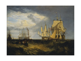 Spithead: Two Captured Danish Ships Entering Portsmouth Harbour Giclee Print by Joseph Mallord William Turner