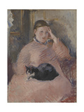 Woman with a Cat Giclee Print by Edouard Manet