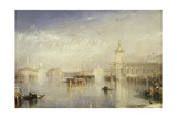 The Dogano, San Giorgio, Citella, from the Steps of the Europa Giclee Print by Joseph Mallord William Turner