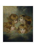 A Child's Portrait in Different Views: 'Angel's Heads' Giclee Print by Sir Joshua Reynolds