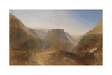 Italian Landscape, Probably Civita Di Bagnoregio Giclee Print by Joseph Mallord William Turner