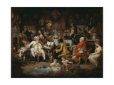 Amateurs of Tye-Wig Music ('Musicians of the Old School') Giclee Print by Edward Francis Burney