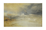 Waves Breaking on a Lee Shore at Margate (Study for 'Rockets and Blue Lights') Stampa giclée di Joseph Mallord William Turner