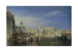 Bridge of Sighs, Ducal Palace and Custom-House, Venice: Canaletti Painting Giclee Print by Joseph Mallord William Turner