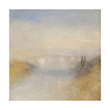 A River Seen from a Hill Giclee Print by Joseph Mallord William Turner
