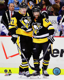 Evgeni Malkin & Kris Letang 2014-15 Action Photo