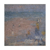 Figures on the Beach, Walberswick Giclee Print by Thomas Lawrence