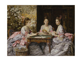 Hearts are Trumps Giclee Print by John Everett Millais