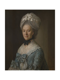 Portrait of a Lady in a Blue Dress, Possibly Mrs Mary Barnardiston Giclee Print by Nathaniel Hone