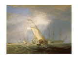Van Tromp Returning after the Battle Off the Dogger Bank Giclée-Druck von John Varley