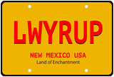 LWYRUP Plate Photo