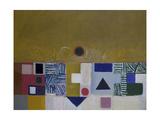 Square Motif, Blue and Gold: The Eclipse Impressão giclée por Victor Pasmore