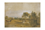 A Thames Backwater with Windsor Castle in the Distance Giclee Print by Joseph Mallord William Turner
