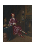 Portrait of the Artist's Son, Jonathan Richardson the Younger, in His Study Giclee Print by Jonathan Richardson