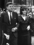 American President John Kennedy and His Wife Jackie June 1st, 1961 During their Trip to Paris Photo