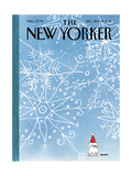 The New Yorker Cover - December 22, 2014 Regular Giclee Print by George Booth