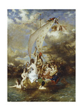 Youth on the Prow, and Pleasure at the Helm Giclee Print by William Etty