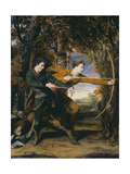 Colonel Acland and Lord Sydney: The Archers Giclee Print by Sir Joshua Reynolds