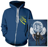 Zip Hoodie: Balance and Composure - Moon (Front/Back) Zip Hoodie