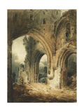 Llanthony Abbey Giclee Print by James Abbott McNeill Whistler